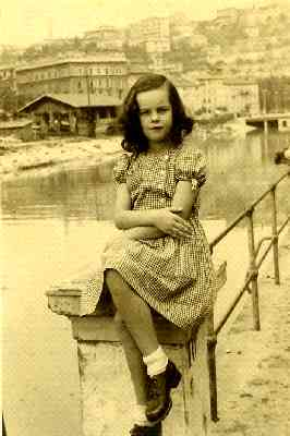 Louisa Yurman in Rijeka. Circa 1949 or 1950.