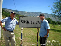 Vali Chifor with Marcelo at the entrance in Sušnjevica