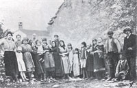 Group of IstroRomanians with Prof. Glavina (far left)